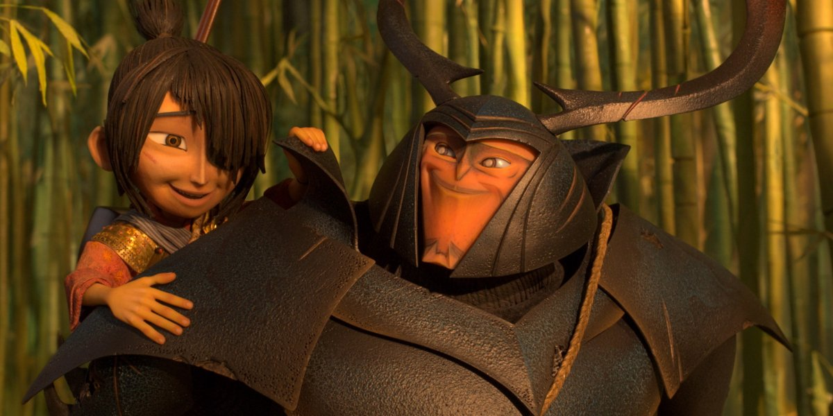 Art Parkinson and Matthew McConaughey in Kubo And The Two Strings