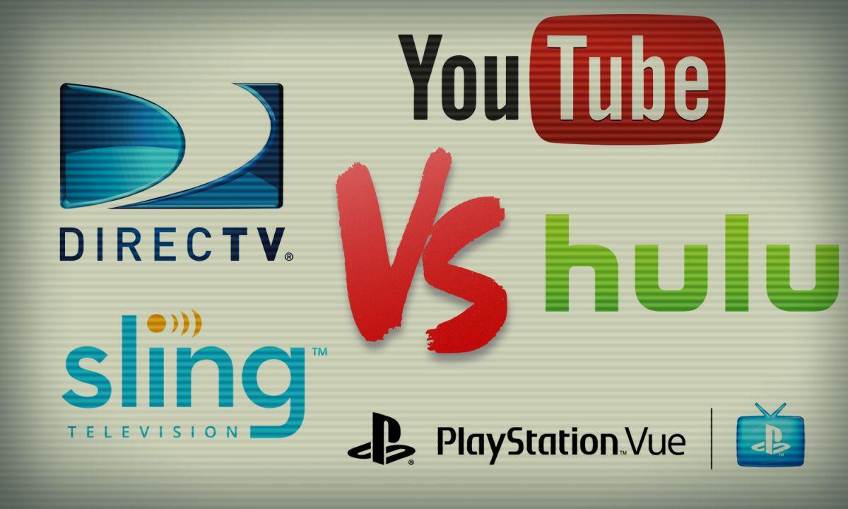 Hulu Live vs  YouTube TV vs  Sling vs  Vue vs  DirecTV Now