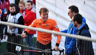 Nils Eekhoff after his disqualification