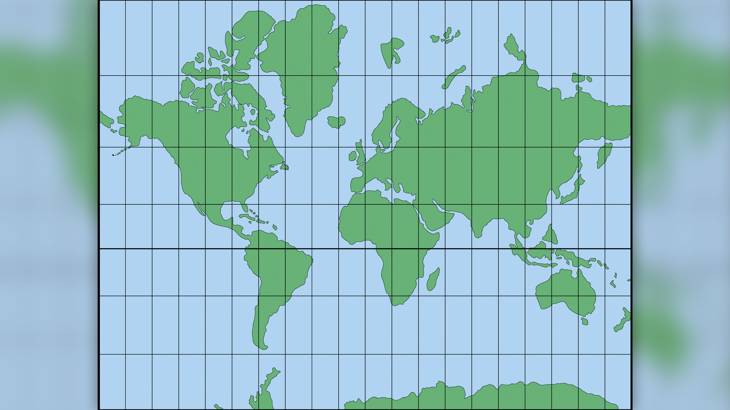 The Mercator projection, created in 1569 by the Dutch geographer Gerard Mercator, helped sailers navigate the world.
