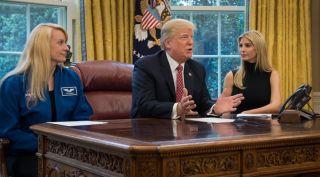 President Trump, astronaut Rubins, Ivanka Trump