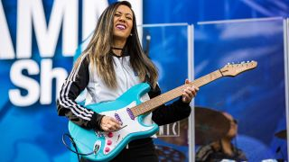 Lari Basilio performs on stage at The NAMM Show 2020 - Day 1 at Anaheim Convention Center on January 16, 2020 in Anaheim, California