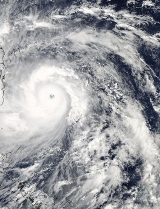 NASA Satellite Spots Super Typhoon Haiyan