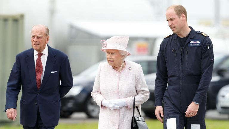 Queen, Prince Philip and Prince William