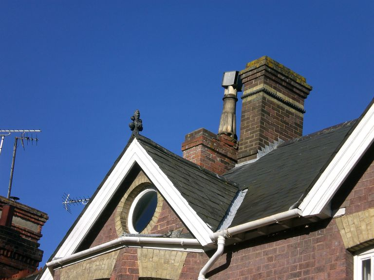How to buy a house at auction: classic lead lined valley on victorian roof
