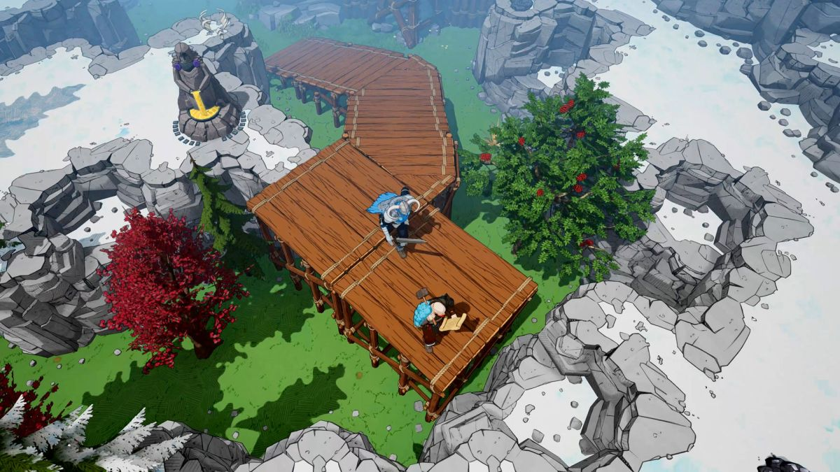 Tribes of Midgard: How to climb cliffs with ramps