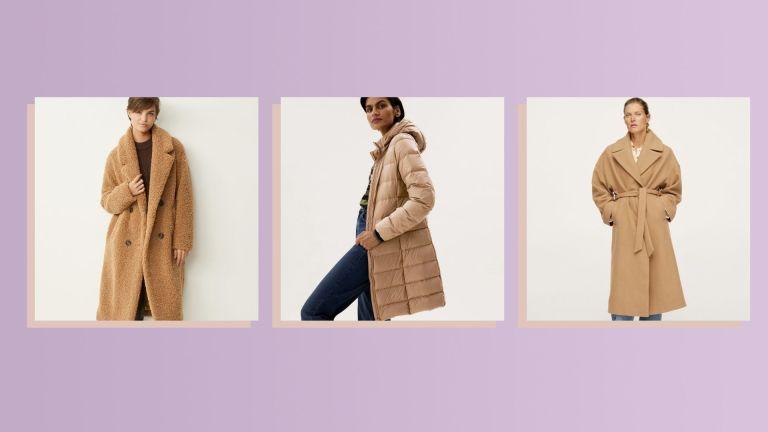 Best camel coats: Next teddy coat, M&S puffer coat, Mango robe coat