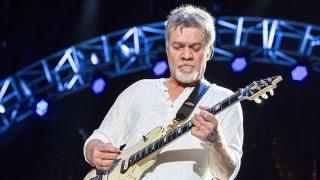 Eddie Van Halen performs live in 2015