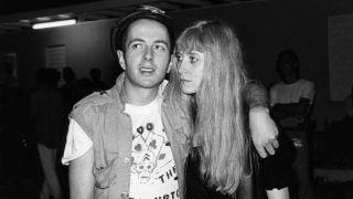 Joe Strummer and Gaby Salter in 1982