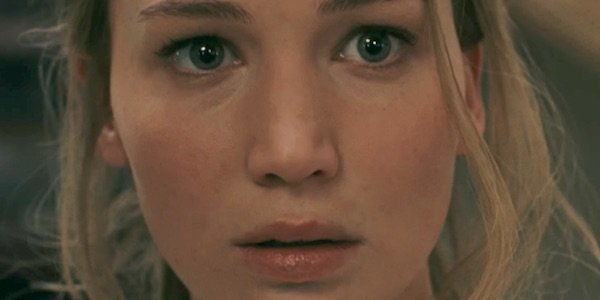 Jennifer Lawrence close up intense face in mother!