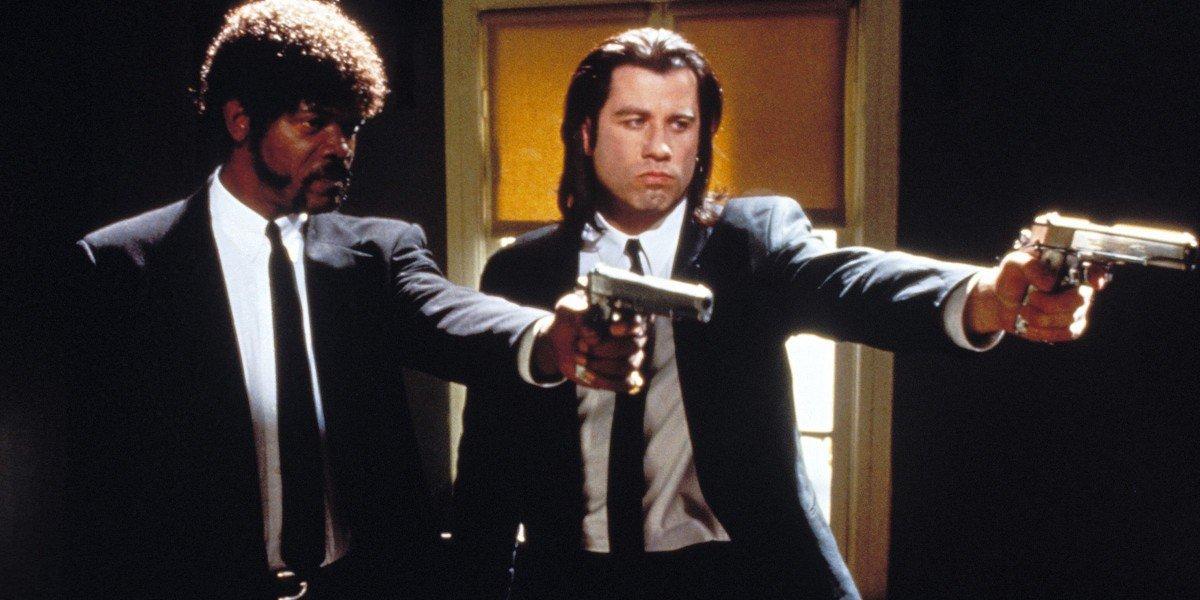 Samuel L. Jackson on the left, John Travolta on the right