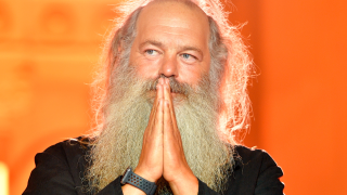 A picture of Rick Rubin on stage