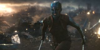 Nebula getting ready to attack in Avengers: Endgame