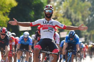 Fernando Gaviria (UAE Team Emirates) wins the GIro di Toscana