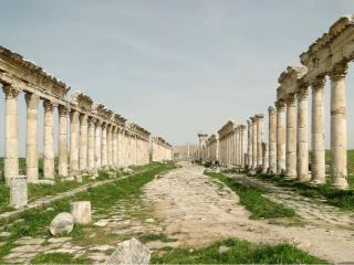 The ancient city of Apamea in Syria is one of of many sites in the Middle East that have been heavily looted and/or destroyed.