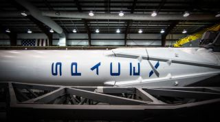 Falcon 9 in Hanger