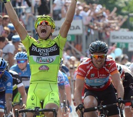 Andrea Guardini wins, Giro d'Italia 2012, stage 18