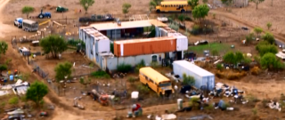 Floresville, Texas: Paul Range and Gloria Haswell have constructed a house entirely out of used shipping containers. Credit: National Geographic Channel/ Sharp Entertainment