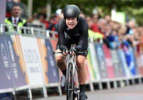 Linda Villumsen NZL CWG womens ITT finish