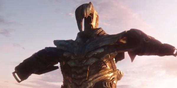 Thanos' Armor hanging in Endgame