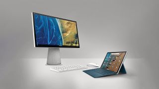 HP's Latest Chrome OS Products, The HP Chromebase All-In-One And Detachable Chromebook x2 11, Underneath A Spotlight
