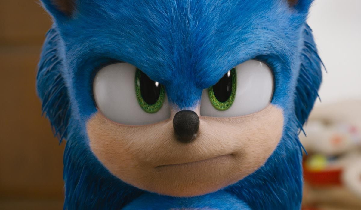 Sonic The Hedgehog staring with a frown