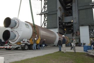 United Launch Alliance Atlas V Rocket Prepared for Stacking