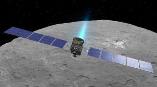Dawn spacecraft art