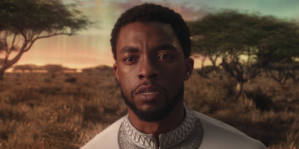 Chadwick Boseman crying in Black Panther