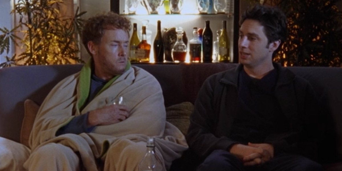 John C. McGinley and Zach Braff on Scrubs