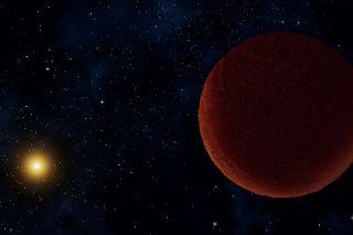 Planetary body 2014 UZ224 art