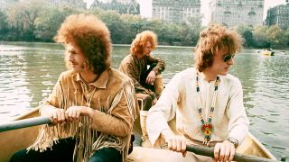 Cream in Central Park, rowing a boat