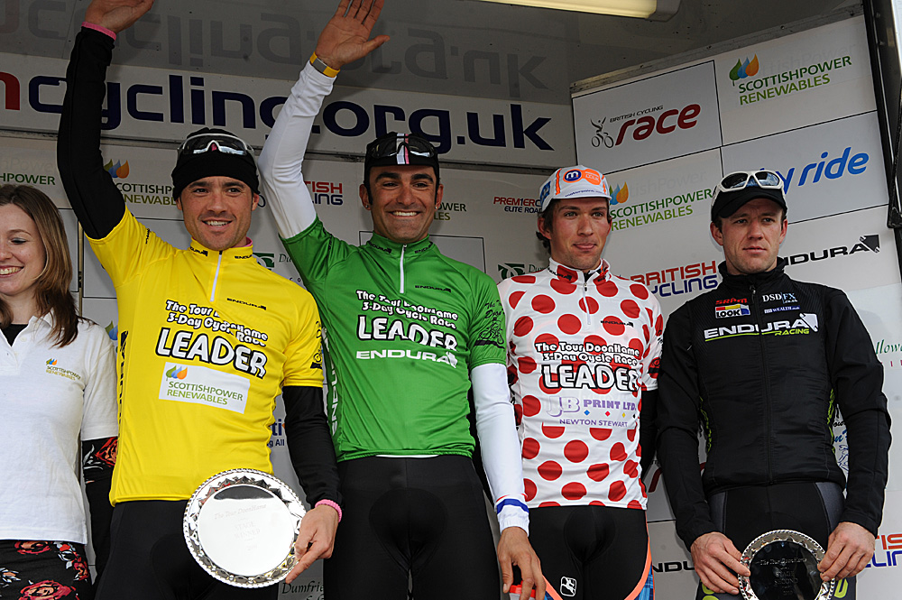 The stage one jersey winners