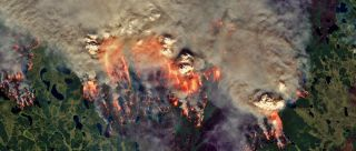 Siberian wildfires 2020 seen from above