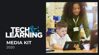 2020 Media Kit cover with teacher and student