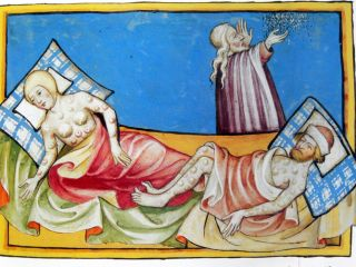 Effects of the bubonic plague - painting