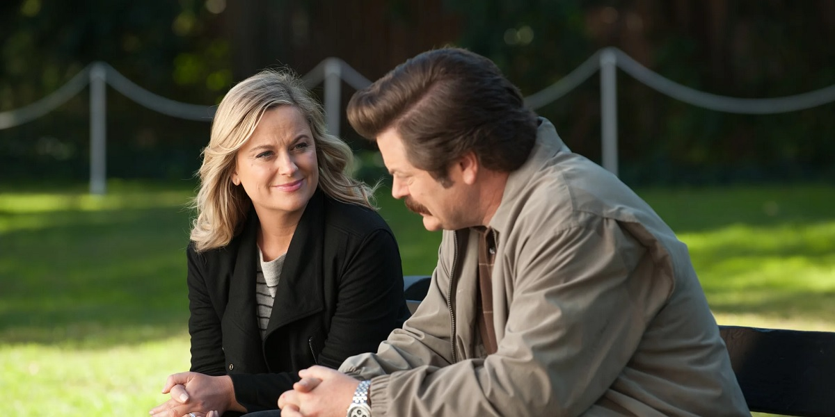 Amy Poehler and Nick Offerman in Parks and Recreation