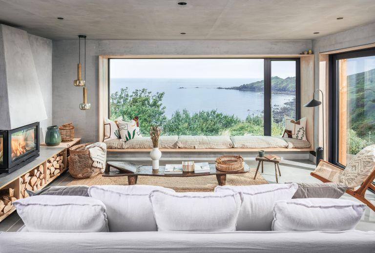 Beachy modern home with sea views