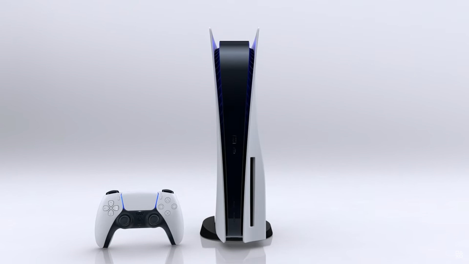 Sony PS5 console standing up