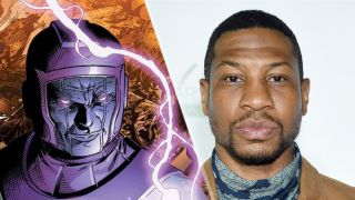 Who is Kang the Conqueror? Seen in comics (L) and Jonathan Majors (R) who will portray Kang.