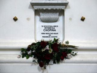 Chopin's heart has remained in a crypt at the Holy Cross Church in Warsaw, Poland, since 1945.