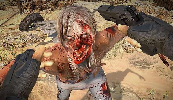 A zombie attacks in Arizona Sunshine