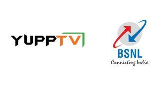 Logos of BSNL and Yupp TV