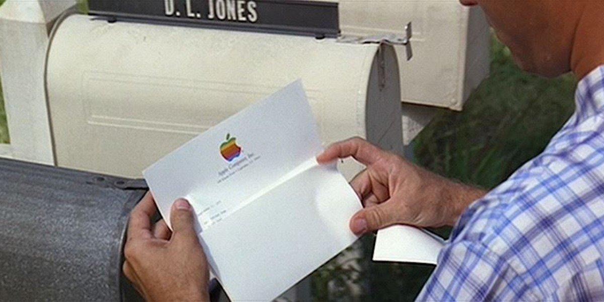 Forrest Gump Apple Letter Scene