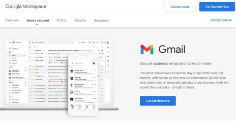Gmail's homepage