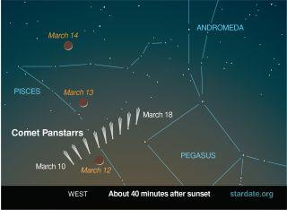 Comet Pan Starrs Sky Map Stardate