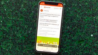 Safari on iOS 15 on an iPhone 12 mini