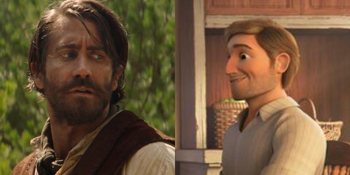 Jake Gyllenhaal and Jim Prescott from Spirit Untamed