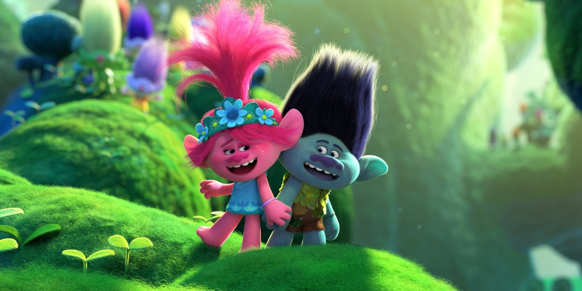 Poppy and Branch signing in Trolls World Tour