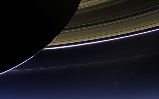 Cassini Captures Saturn's Rings, Earth and Moon